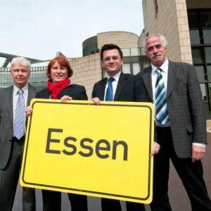 Die vier Essener SPD-Landtagsabgeordneten Peter Weckmann, Britta Altenkamp, Thomas Kutschaty und Dieter Hilser