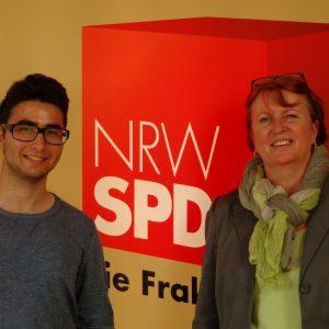 Zwei Landtagsabgeordnete unter sich: Ekin Yilmazer und Britta Altenkamp