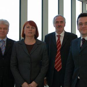 Britta Altenkamp, Dieter Hilser, Thomas Kutschaty und Peter Weckmann