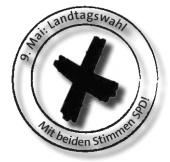 9. Mai: mit beiden Stimmen SPD!