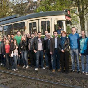 Historische Straßenbahnfahrt mit Jugendauszubildendenvertretern und Jusos Essen