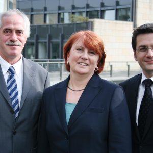 Dieter Hilser, Britta Altenkamp und Thomas Kutschaty